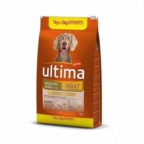 Utima médium maxi adult poulet 7kg + 2kg