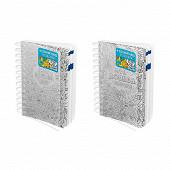 Journalier Polypro Intégral  2 encarts 12x18 320P grille journalière bleue 1J/P