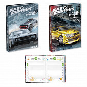 Fast and furious agenda scolaire 120x170 1 jour ars page 320 pages assorti