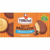 St Michel galettes moelleuses nappées chocolat au lait 180g