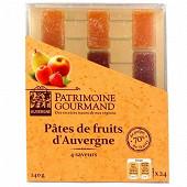 Patrimoine Gourmand pâtes de fruits d'Auvergne 4 saveurs 240g