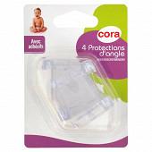 4 protections d'angles avec adhésifs Cora