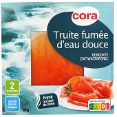 Cora truite fumée d'eau douce 2 tranches 60g