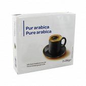 Café moulu pur arabica 2x250g
