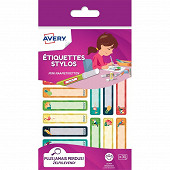 AVERY - 30 étiquettes stylo (tropical) - 50 x 10 mm