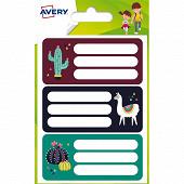 Avery 15 étiquettes scolaires L 76X34 MM lama