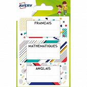 AVERY - 15 étiquettes scolaires G 76X34 MM GRAPHIQUE