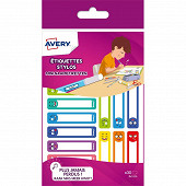 AVERY - 30 étiquettes stylos S 50X10 MM SMILEY