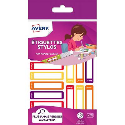 Avery Avery 30 étiquettes stylo (jaune/orange) - 50 x 10 mm