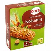 Cora barres céréales noisette 6x21g soit 126G