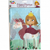 Nappe princesse licorne 130x180cm