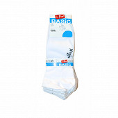 Lot de 5 paires de socquettes invisibles influx basic BLANC T43/46