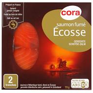 Cora saumon fumé Ecosse 2 tranches 70g