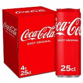 Coca-cola boite slim 4x25cl