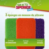 Lot de 3 éponges en mousse de silicone