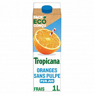 Tropicana Pure Premium orange sans pulpe pur jus brique 1l