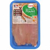 Cora aiguillettes de poulet blanc sans OGM sans antibiotiques Cora