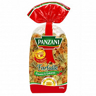 Panzani pâtes fantaisies farfalle épinards tomate 500g