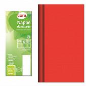 Cora nappe 20mx1m18 damassé rouge