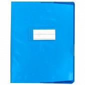 Cora protège cahier 17x22 pvc av rabats 15 transparent assorti PAV