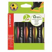 4 surligneurs Stabilo green boss (jaune, vert, orange, rose)