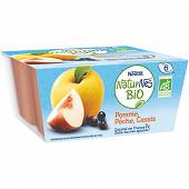 Nestlé naturnes bio pomme pêche cassis dès 6 mois 4x90g