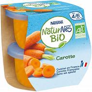 Nestlé Naturnes Bio carotte dès 4/6 mois 2x130g
