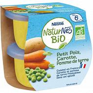 Nestle naturnes bio petits pois carotte pomme de terre 2x130g