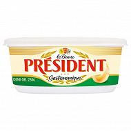 Président beurre gastronomique demi-sel 250g