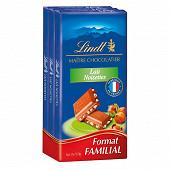 Lindt maître chocolatier lait noisettes 3x110g