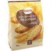Cora petits pains grillés au blé complet 225g