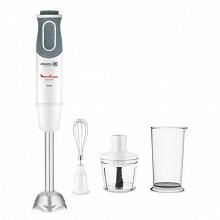 Moulinex Mixeur plongeant optichef 3 en 1 blanc / gris + 2 accessoires DD642110