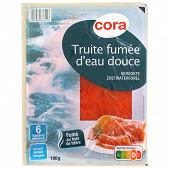Cora truite fumée d'eau douce 6 tranches 180g