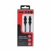 Apm Cordon fibre optique toslink mâle/mâle noir 2m 416014