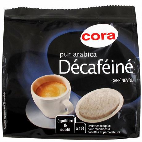 Cora dosettes souples x18 pur arabica décaféiné 126g