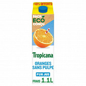 Tropicana Pure Premium orange sans pulpe 1l + 10% offert