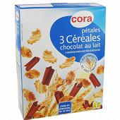 Cora pétales 3 céréales chocolat au lait 300g