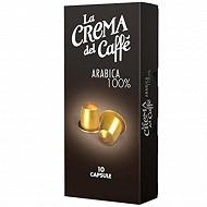 Lot de 10 capsules café 100% arabica 50g