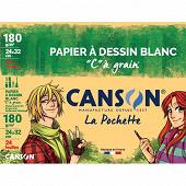 Canson maxi pochette canson à grain 24 feuilles