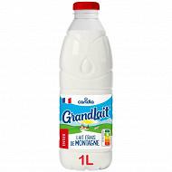 Grandlait lait frais de montagne entier bouteille 1l