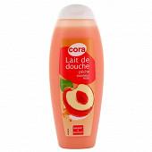 Cora gel douche lait pêche 300ml