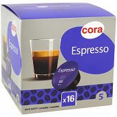 Cora capsule type dolce gusto espresso x16 115.2g