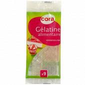 Cora gélatine alimentaire 9 feuilles 17g
