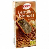Cora lentilles blondes 500g