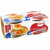 Cora crème aux oeufs saveur vanille 4x100g