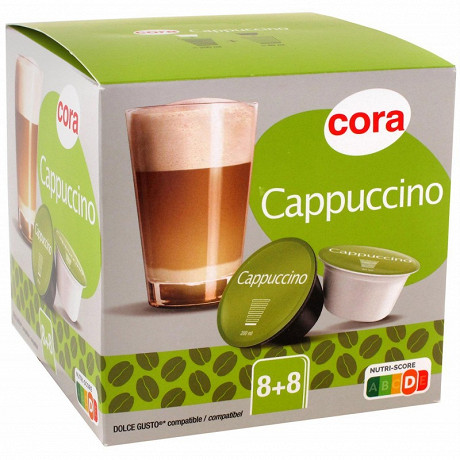 Cora capsule type dolce gusto capuccino 8x2 193.6g