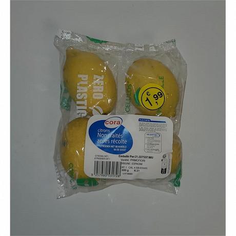 Citron jaune cora 4 fruits