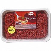Préparation viande hachée bolognaise 20% 600g
