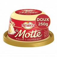 Président beurre gastronomique motte doux 250g
