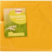 Cora serviettes x50 safran 33x33cm 2 plis